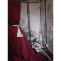 """NEW! Delicious Huge Velvet Red Wine 113""""D 52""""W Blackout/Thermal Lined Curtains"""