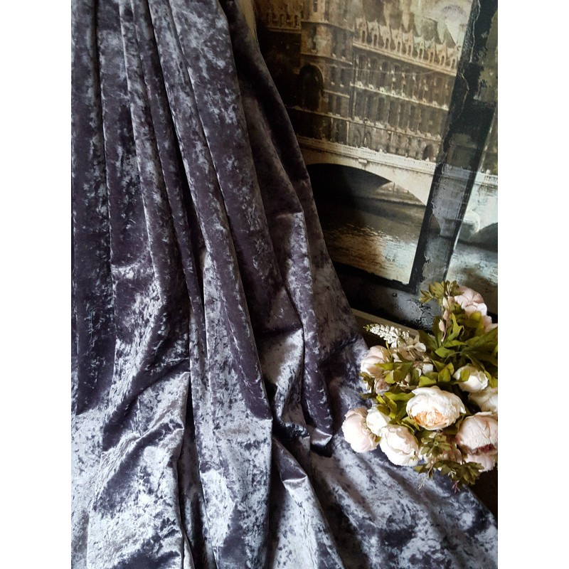 new  stunning heavy lilac crushed velvet 113 u0026quot d 76 u0026quot w blackout lined bay curtains