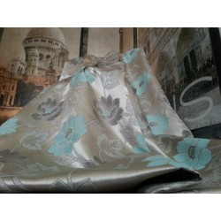 """Opulent Huge Silk Cotton Duck Egg 112""""D102""""W Blackout/Thermal Lined Bay Curtains"""