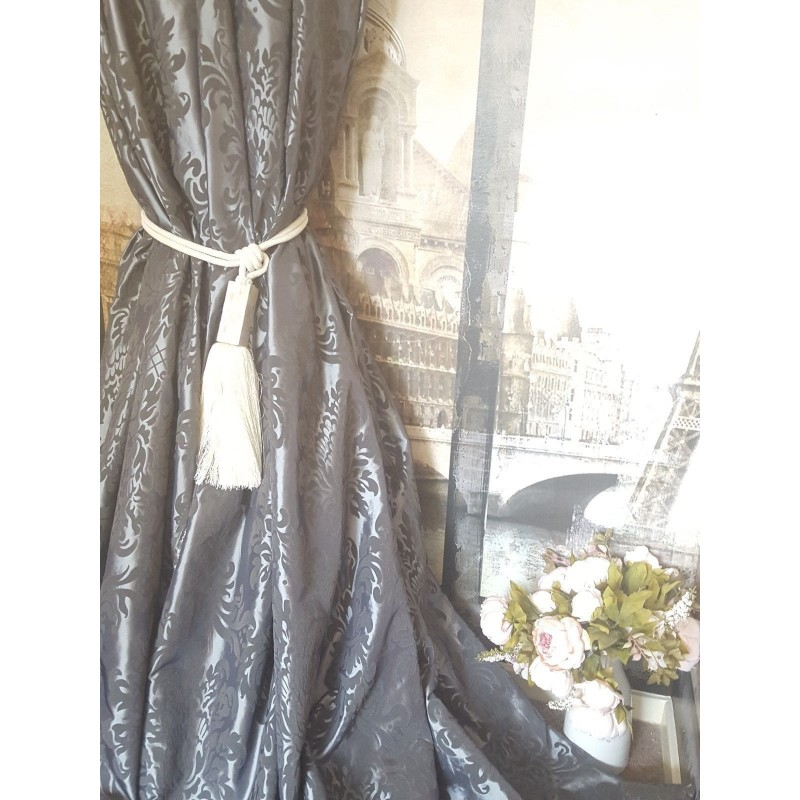 Wonderful Silver Damask Curtains Images - Bathtub for Bathroom ...