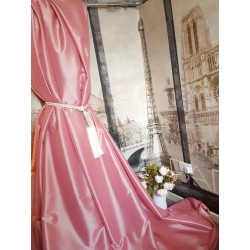 """NEW! Sublime Huge Taffeta Silk Watermelon Pink 90""""D 52""""W Cotton Lined&Interlined Bay Curtains"""