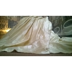 """Opulent Huge 100% Pure Silk Vanilla 94""""D 100""""W Blackout/Thermal Lined Curtains"""