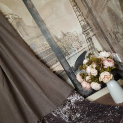 """New Huge Bespoke Linen Slate Grey EP 102""""W 121""""L Blackout Thermal Lined Curtains"""