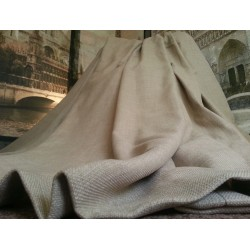 "Huge Bespoke Cream/Taupe Linen EP128""W 114""L Blackout Thermal Lined Bay Curtains"