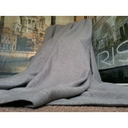 "New Huge Bespoke Linen Slate Grey EP 128""W 102""L Blackout Thermal Lined Curtains"