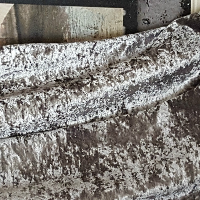 Made To Measure 52 Quot W 121 Quot D Silver Crushed Velvet Blackout