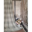 """New Huge Bespoke Stone Natural Tartan 102""""W 112""""L Blackout Thermal Lined Curtains"""