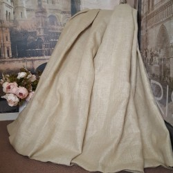 "Huge Large MadeTo Order100%Jute Natural 105""W 114""D Blackout/ther Lined Curtains"