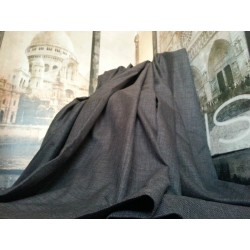 "Huge Bespoke Linen Charcoal EP 76""W 113""L Blackout/Thermal Lined Bay Curtains"