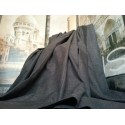 "Huge Bespoke Linen Charcoal EP 102""W 94""L Blackout/Thermal Lined Bay Curtains"