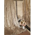 """Stunning Heavy Champagne Crushed Velvet 111""""D 76""""W Blackout Lined Eyelet Curtains"""